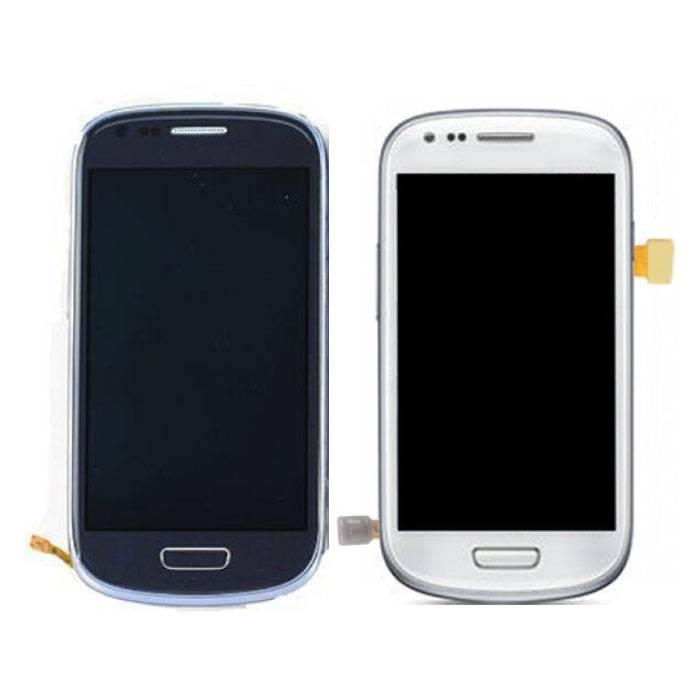 Samsung Galaxy S3 Mini-Bildschirm (Touchscreen + AMOLED + Teile) AAA + Qualität - Blau / Weiß