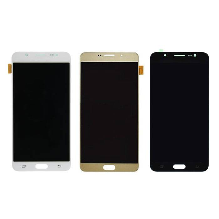 Samsung Galaxy J7 2016 Scherm (Touchscreen + AMOLED + Onderdelen) AAA+ Kwaliteit - Zwart/Wit/Goud
