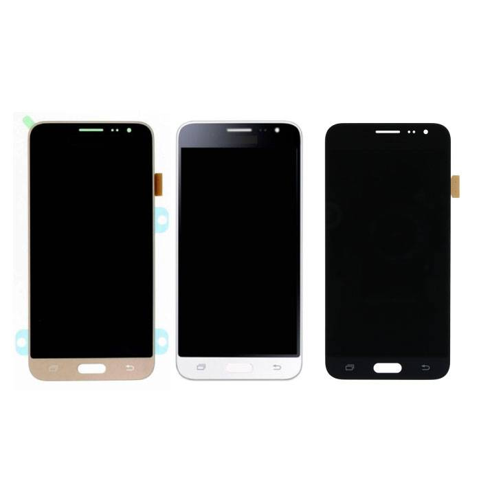Samsung Galaxy J3 2016 Bildschirm (Touchscreen + AMOLED + Teile) AAA + Qualität - Schwarz / Weiß / Gold