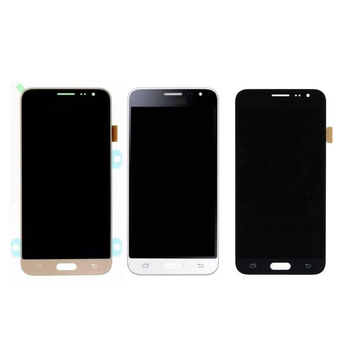 Samsung Galaxy J3 2016 Bildschirm (Touchscreen + AMOLED + Teile) A + Qualität - Schwarz / Weiß / Gold