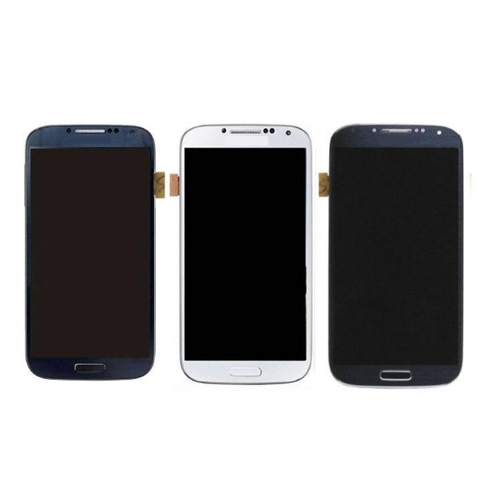 Samsung Galaxy S4 I9500 Scherm (Touchscreen + AMOLED + Onderdelen) AAA+ Kwaliteit - Blauw/Zwart/Wit