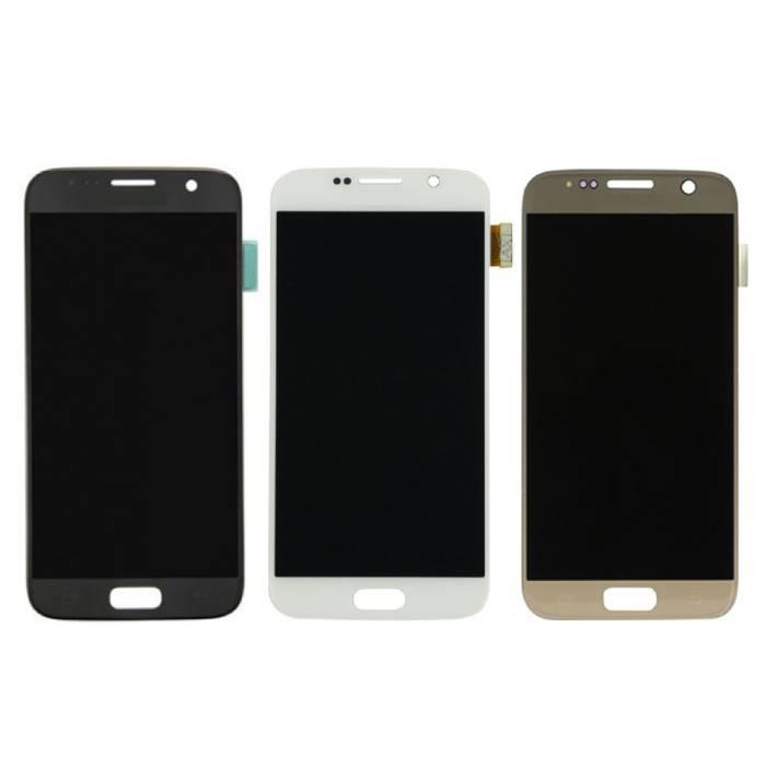 Samsung Galaxy S7 Bildschirm (Touchscreen + AMOLED + Teile) AAA + Qualität - Schwarz / Weiß / Gold