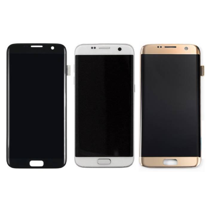 Écran Samsung Galaxy S7 Edge (Écran tactile + AMOLED + Pièces) Qualité A + - Noir / Blanc / Or