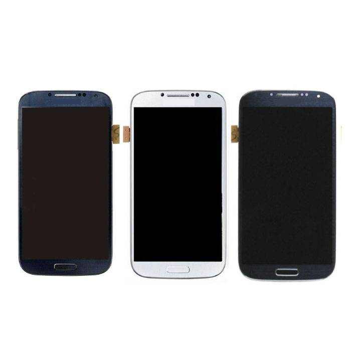Samsung I9500 Galaxy S4 screen (Touchscreen + AMOLED + Parts) A + Quality - Blue / Black / White