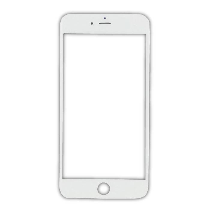 Plaque de verre avant en verre avant pour iPhone 8 Plus Qualité A + - Blanc