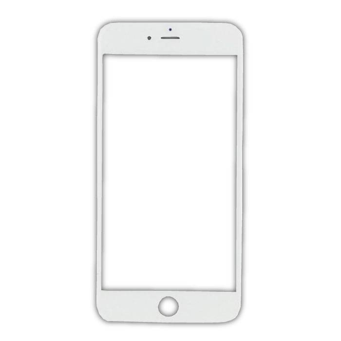 iPhone 8 Plus Front Glass Glass Plate AAA + Quality - White