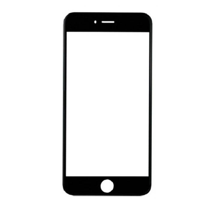 iPhone 8 Plus Front Glass Glass Plate A + Quality - Black