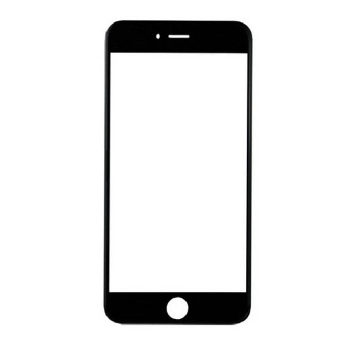 iPhone 8 Plus Glasscheibe vorne A + Qualität - Schwarz