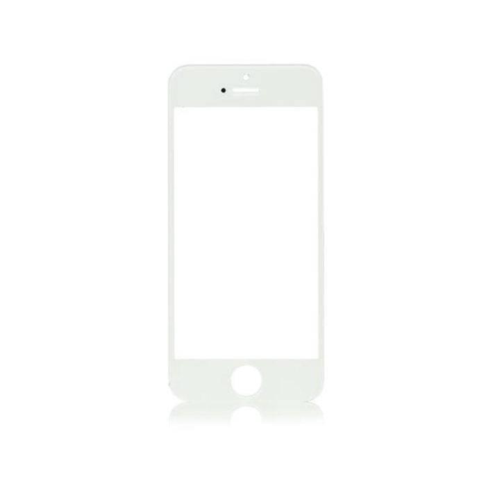Plaque de verre avant en verre avant pour iPhone 4 / 4S Qualité A + - Blanc