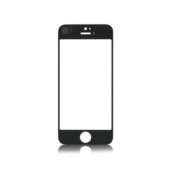 Plaque de verre avant en verre avant pour iPhone 5 / 5C / 5S / SE Qualité AAA + - Noir