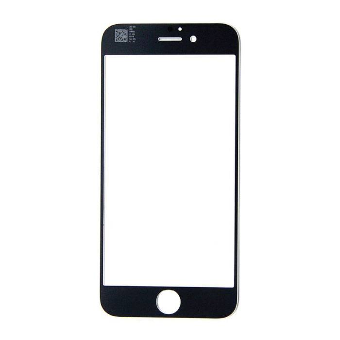 """iPhone 6 / 6S 4.7 """"Front Glass Glass Plate AAA + Quality - Black"""