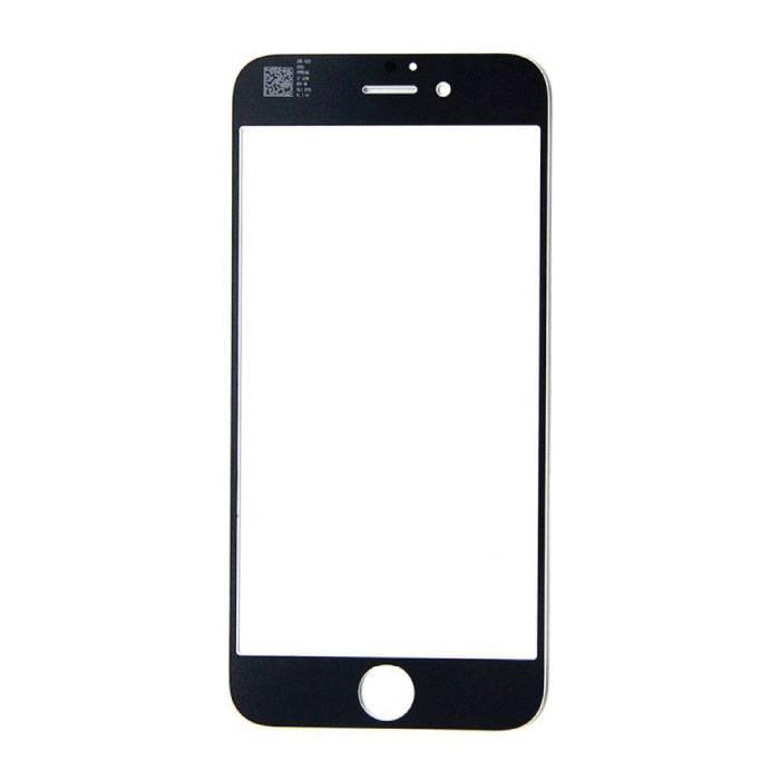 Plaque de verre avant en verre avant de 4,7 po pour iPhone 6 / 6S Qualité AAA + - Noir