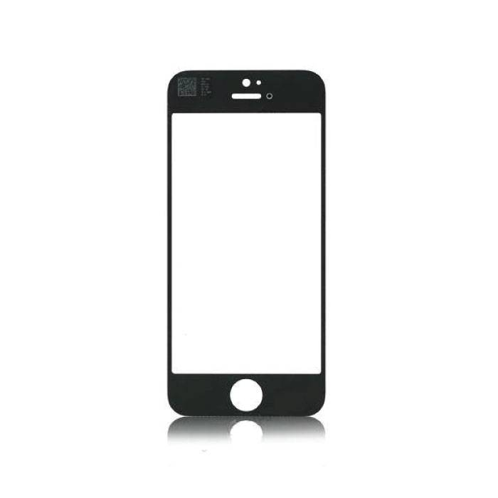 iPhone 5 / 5C / 5S / SE Front Glass Glass Plate A + Quality - Black