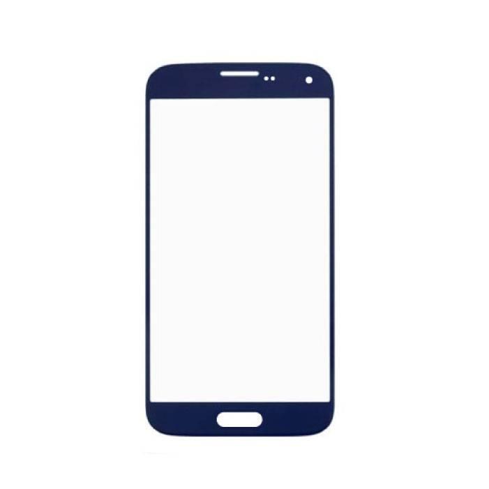 Plaque de verre avant en verre avant pour Samsung Galaxy S5 i9600 Qualité AAA + - Bleu