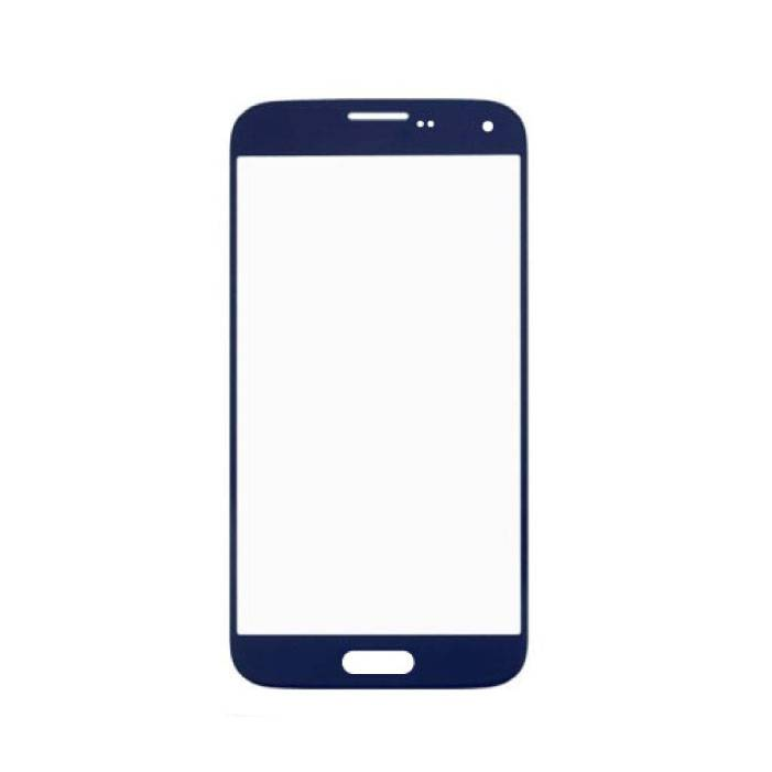 Samsung Galaxy S5 i9600 Front Glass Glass Plate AAA + Quality - Blue