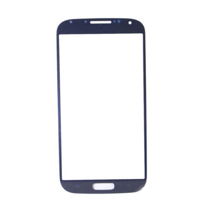 Plaque de verre avant en verre avant pour Samsung Galaxy S4 i9500 Qualité AAA + - Bleu