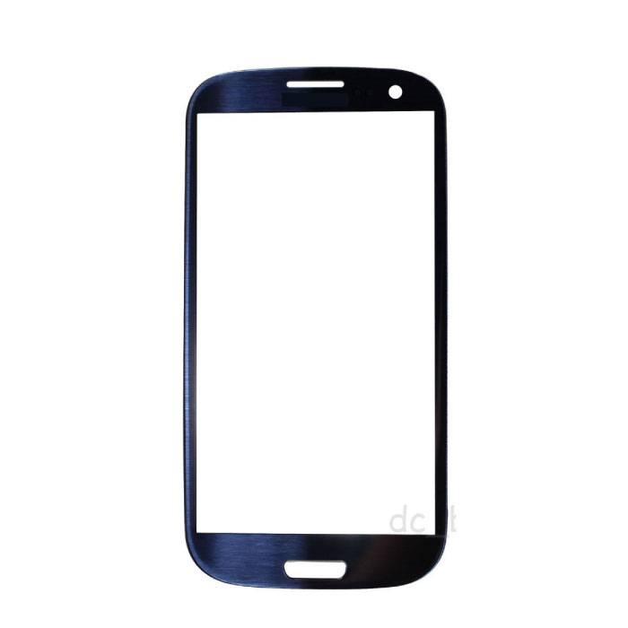 Plaque de verre avant en verre avant pour Samsung Galaxy S3 i9300 Qualité AAA + - Bleu