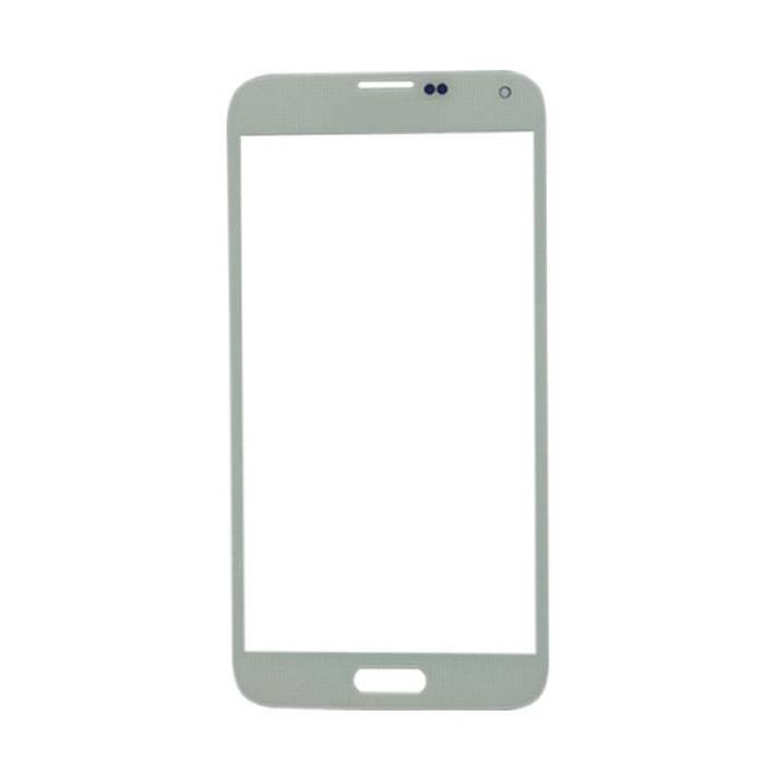 Plaque de verre avant en verre avant pour Samsung Galaxy S5 i9600 Qualité AAA + - Blanc
