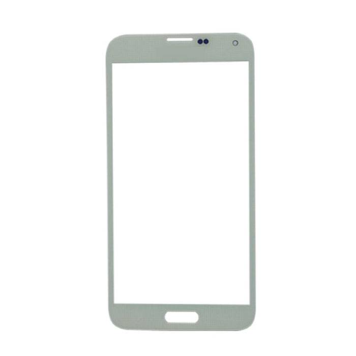 Samsung Galaxy S5 i9600 Front Glass Glass Plate AAA + Quality - White