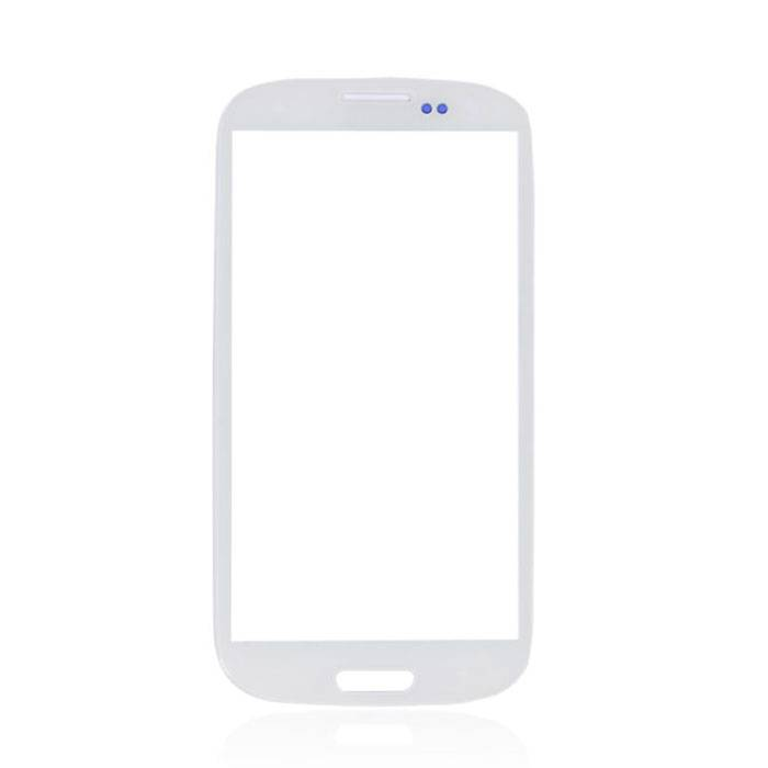 Samsung Galaxy S3 i9300 Front Glass Glass Plate AAA + Quality - White