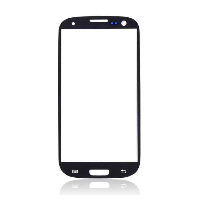 Plaque de verre avant en verre avant pour Samsung Galaxy S3 i9300 Qualité AAA + - Noir