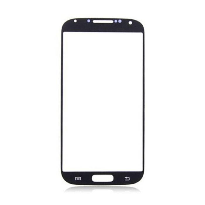 Plaque de verre avant en verre avant pour Samsung Galaxy S4 i9500 Qualité AAA + - Noir