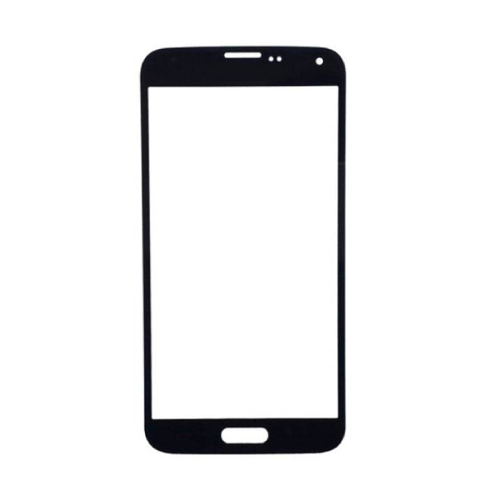 Plaque de verre avant en verre avant pour Samsung Galaxy S5 i9600 Qualité AAA + - Noir