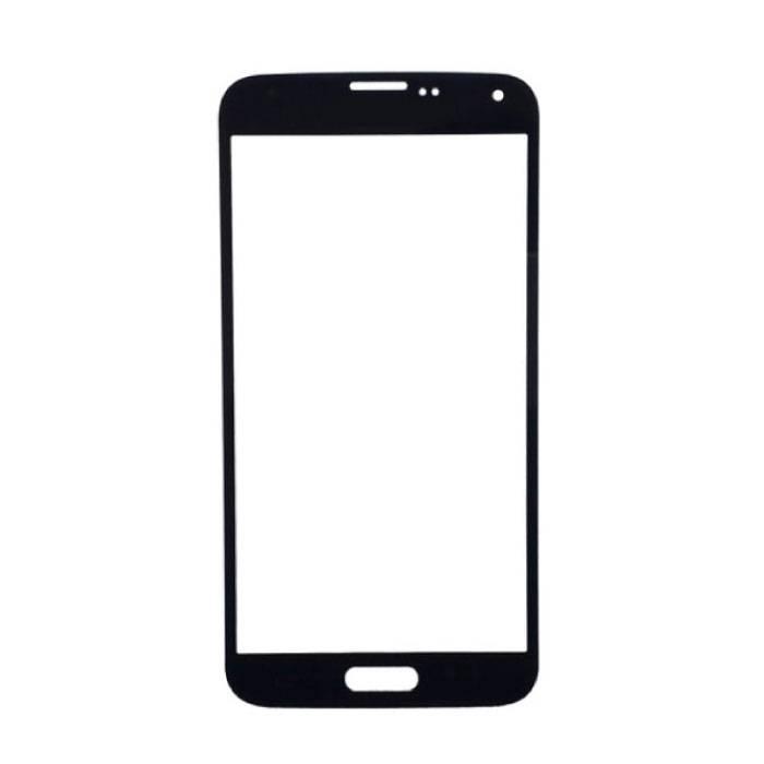 Plaque de verre avant en verre avant pour Samsung Galaxy S5 i9600 Qualité A + - Noir