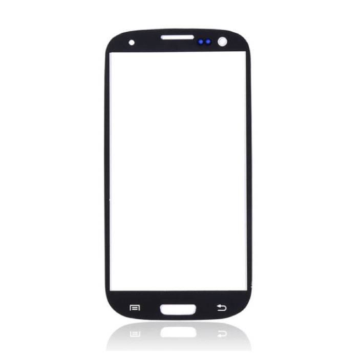 Plaque de verre avant en verre avant pour Samsung Galaxy S3 i9300 Qualité A + - Noir