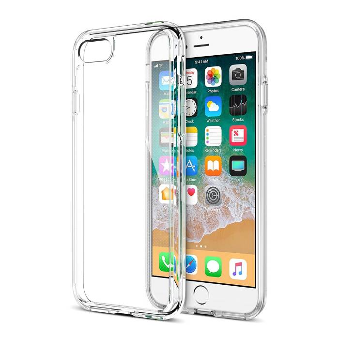 iPhone 8 Plus Transparant Clear Flexible Gel Case Cover Hoesje