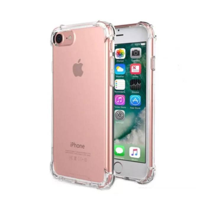 iPhone 7 plus clair et transparent Pare-chocs de couverture de cas en silicone TPU anti-choc
