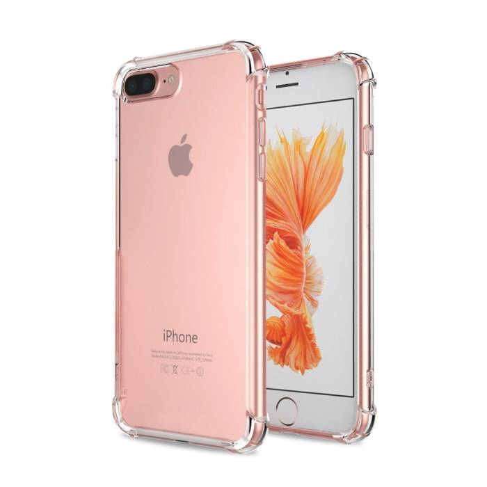iPhone 7 Transparent Pare-chocs en silicone cas couverture TPU anti-choc