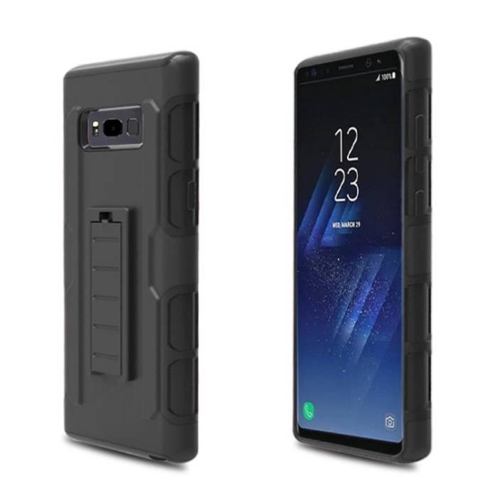 Stuff Certified® Samsung Galaxy S8 Plus Future Armor Hard Case Cover Cas Case Black