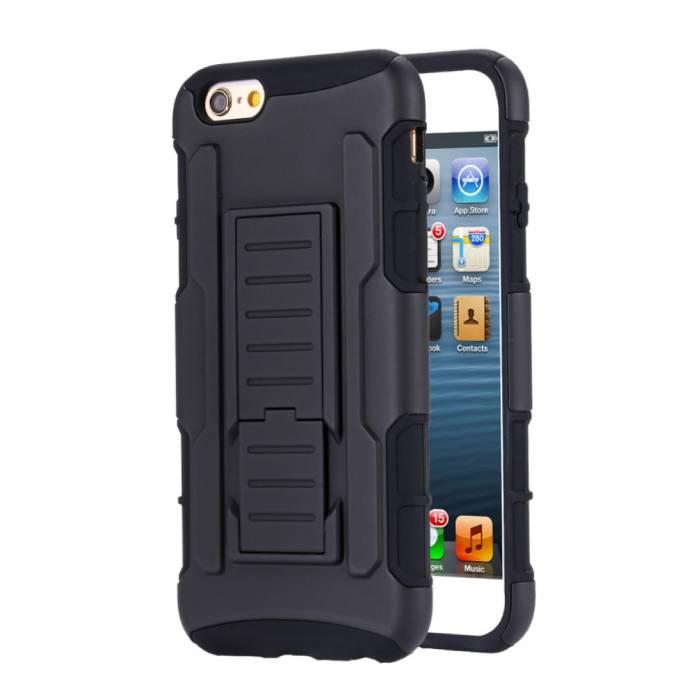 iPhone 6 Plus Future Armor Hard Case Cover Cas Hoesje Zwart