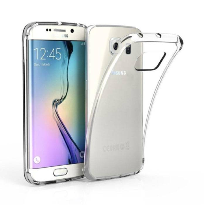 Stuff Certified ® Transparant Clear Case Cover Silicone TPU Hoesje Samsung Galaxy S6 Edge