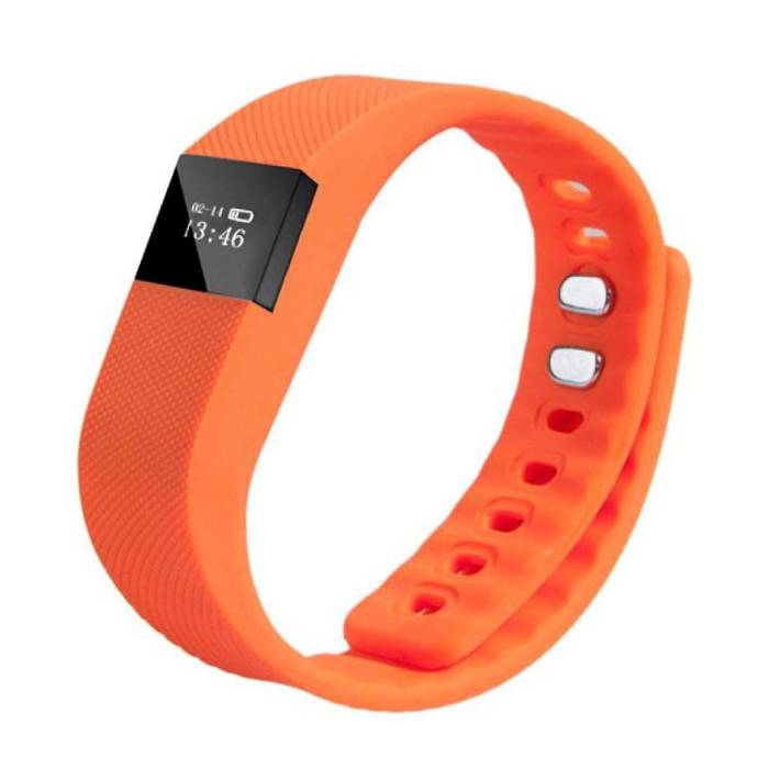 Originale TW64 intelligente Band Fitness Sports Tracker Activité Smartwatch Regarder OLED Smartphone iOS iPhone Android Samsung Huawei orange