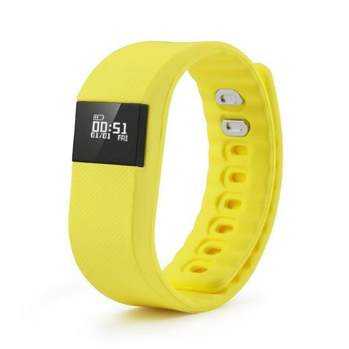 Originale TW64 intelligente Band Fitness Sports Tracker Activité Smartwatch Regarder OLED Smartphone iOS iPhone Android Samsung Huawei Yellow