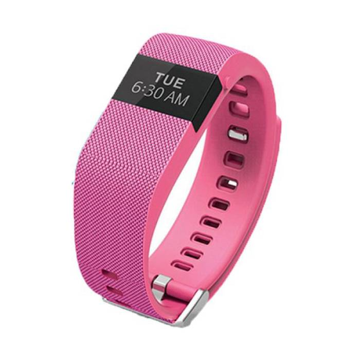 Originele TW64 Smartband Fitness Sport Activity Tracker Smartwatch Smartphone Horloge OLED iOS Android iPhone Samsung Huawei Roze