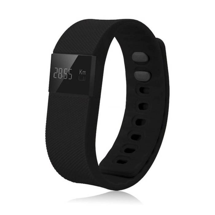 Originele TW64 Smartband Fitness Sport Activity Tracker Smartwatch Smartphone Horloge OLED iOS Android iPhone Samsung Huawei Zwart