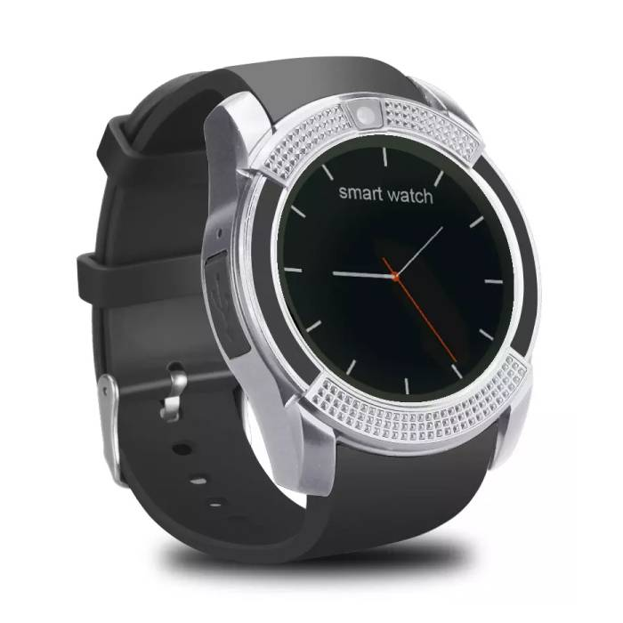 Original V8 SmartWatch HD Smartphone Watch OLED iOS Android Silver
