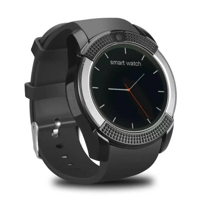 V8 d'origine SmartWatch HD Smartphone Fitness Sports Tracker activité Regarder OLED iOS iPhone Android Samsung Huawei Noir