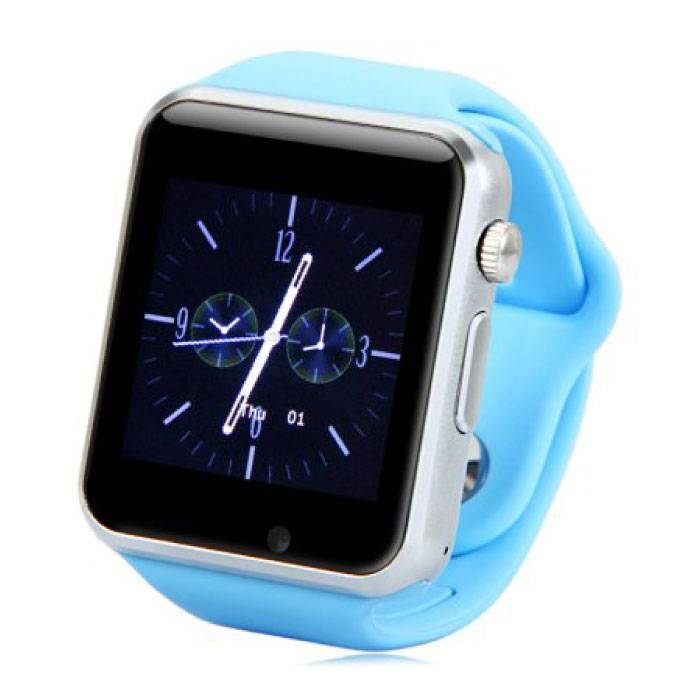 Originele A1/W8 Smartwatch Smartphone Fitness Sport Activity Tracker Horloge OLED iOS Android iPhone Samsung Huawei Blauw