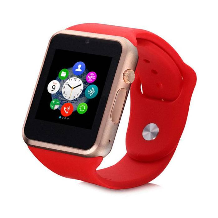 Origine A1 / W8 SmartWatch Smartphone Fitness Sports Tracker activité Regarder OLED Android iOS iPhone Samsung Huawei Red