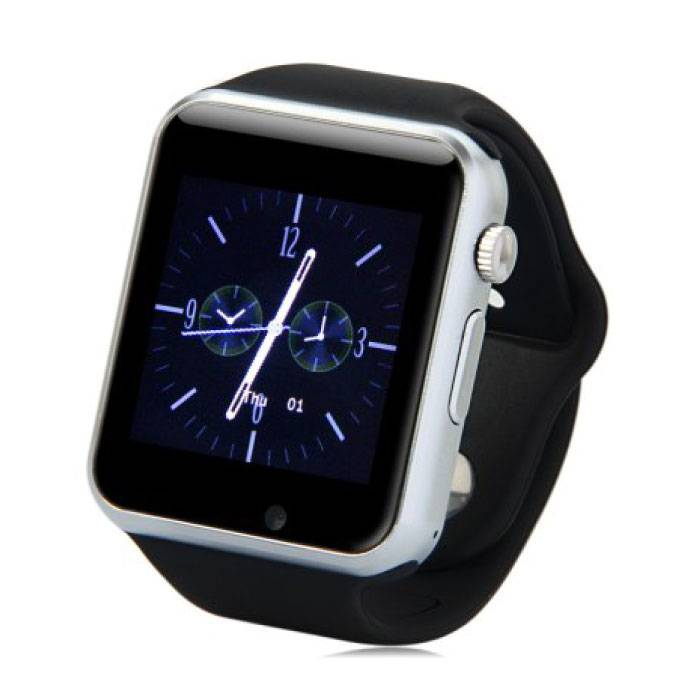 Originele A1/W8 Smartwatch Smartphone Fitness Sport Activity Tracker Horloge OLED Android iOS iPhone Samsung Huawei Zwart