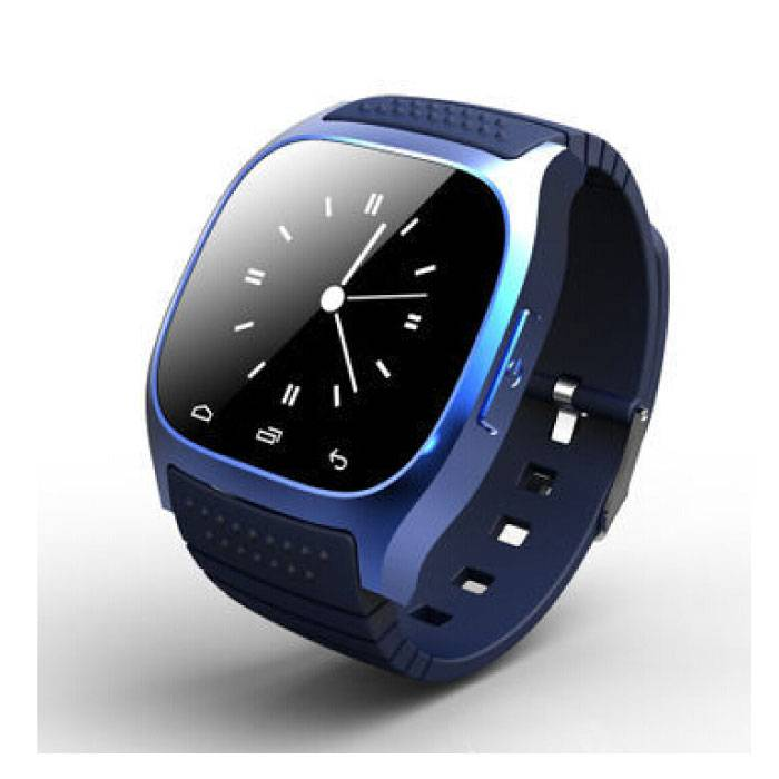 Originele M26 Smartwatch Smartphone Fitness Sport Activity Tracker Horloge OLED Android iOS iPhone Samsung Huawei Blauw