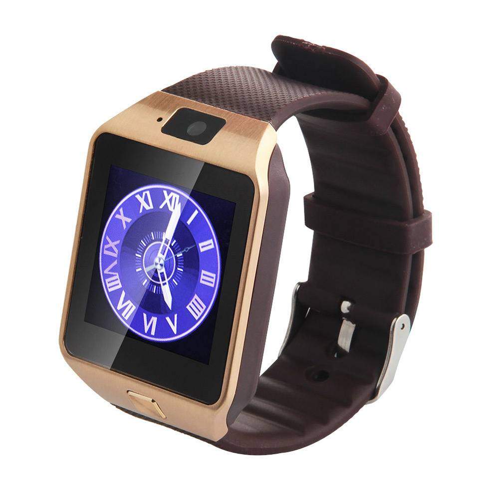 Originele DZ09 Smartwatch Smartphone Fitness Sport Activity Tracker Horloge OLED Android iOS iPhone Samsung Huawei Goud