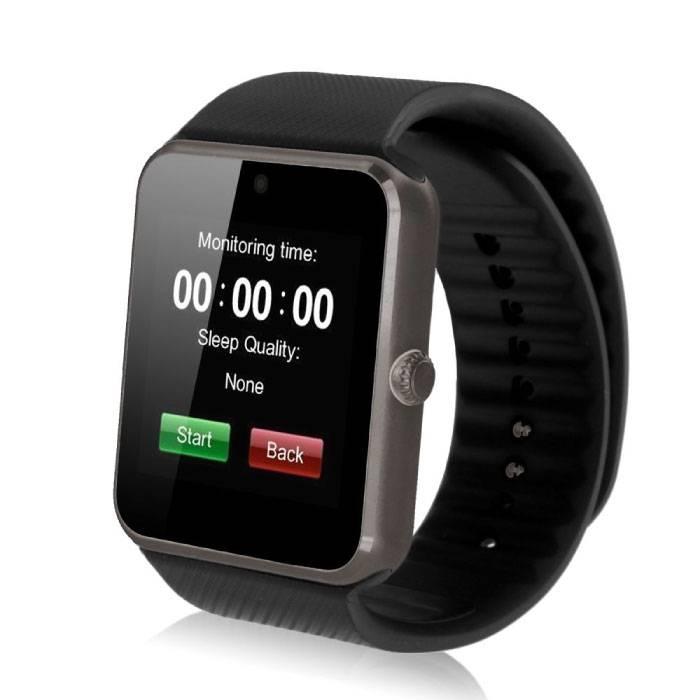 GT08 originale SmartWatch Smartphone Fitness Sports Tracker activité Regarder OLED Android iOS iPhone Samsung Huawei Noir
