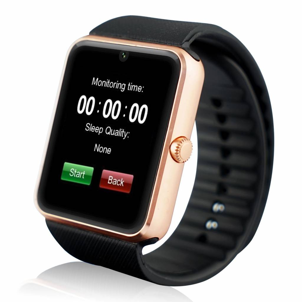 Originele GT08 Smartwatch Smartphone Fitness Sport Activity Tracker Horloge OLED Android iOS iPhone Samsung Huawei Goud