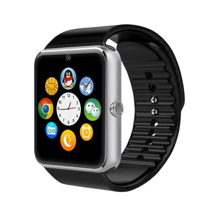 GT08 originale SmartWatch Smartphone Fitness Sports Tracker activité Montre OLED Samsung Huawei Android iOS iPhone Argent