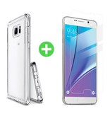 Stuff Certified® Samsung Galaxy Note 5 Transparant TPU Hoesje + Screen Protector Tempered Glass